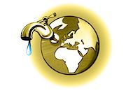 Earth with dripping faucet Stock Photo - Premium Royalty-Freenull, Code: 632-05554284