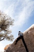 Rock Climber Free Climbing Stock Photo - Premium Rights-Managednull, Code: 822-05554810