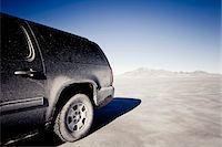 remote car - Dirty 4x4 Car Parked on the Bonneville Salt Flats Stock Photo - Premium Rights-Managednull, Code: 822-05554817