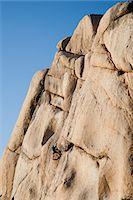 rock climber - Man Climbing Rock Face Stock Photo - Premium Rights-Managednull, Code: 822-05554831