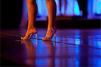 foot model - Woman's Legs and Feet with High Heels on Stage Stock Photo - Premium Rights-Managednull, Code: 822-05554888
