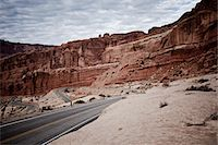 rugged landscape - Winding Road and Sandstone Formations Stock Photo - Premium Rights-Managednull, Code: 822-05554895