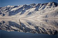 panoramic winter scene - Snow Covered Mountains Reflecting in Lake Stock Photo - Premium Rights-Managednull, Code: 822-05554955