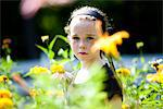 Girl Standing amongst Flowers Stock Photo - Premium Rights-Managed, Artist: ableimages, Code: 822-05555045
