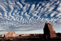 Sandstone Fins and Cloud Formations Stock Photo - Premium Rights-Managednull, Code: 822-05555063