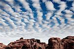 Sandstone Formations and Cloudy Blue Sky Stock Photo - Premium Rights-Managed, Artist: ableimages, Code: 822-05555100