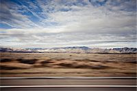 Highway and Mountain Landscape, Blurred Motion Stock Photo - Premium Rights-Managednull, Code: 822-05555123