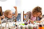 Boy and Girl at Art Class Stock Photo - Premium Rights-Managed, Artist: ableimages, Code: 822-05555187