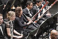 Winds section in orchestra Stock Photo - Premium Royalty-Freenull, Code: 649-05555718