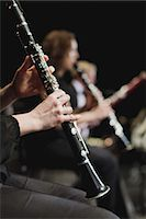 Clarinet player in orchestra Stock Photo - Premium Royalty-Freenu