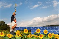riding crop - Father and son in field by solar panels Stock Photo - Premium Royalty-Freenull, Code: 649-05556051
