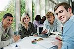 University students working together, portrait Stock Photo - Premium Royalty-Freenull, Code: 614-05557311