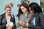 University students receiving their exam results Stock Photo - Premium Royalty-Freenull, Code: 614-05557337