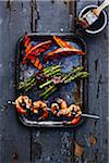 Shrimp Skewers and Grilled Vegetables Stock Photo - Premium Rights-Managed, Artist: John Cullen, Code: 700-05560162