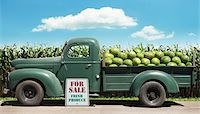 Old Pickup Truck Filled with Watermelons Stock Photo - Premium Rights-Managednull, Code: 700-05560223