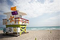 Lifeguard Tower on Beach Stock Photo - Premium Rights-Managednull, Code: 700-05560268