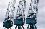 Cranes, Hamburg, Germany Stock Photo - Premium Royalty-Free, Artist: Mark Downey, Code: 6106-05581271