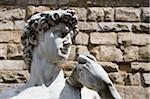 Statue of Michelangelo's David against brick wall, close-up Stock Photo - Premium Royalty-Freenull, Code: 6106-05584829