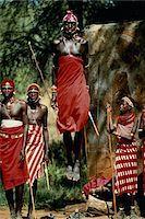 Kenya,Samburu tribe,man leaping in air during tribal dance Stock Photo - Premium Royalty-Freenull, Code: 6106-05586844