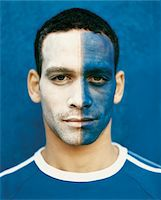 soccer fan - Football Supporter With a Painted Face Stock Photo - Premium Royalty-Freenull, Code: 6106-05589545