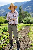 farmhand (female) - Portrait of Farmer on Organic Farm Stock Photo - Premium Rights-Managednull, Code: 700-05602723