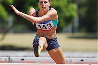 Athlete Hurdling Stock Photo - Premium Royalty-Freenull, Code: 622-05602866