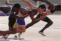 race track (people) - Runners Taking Off From Starting Point Stock Photo - Premium Royalty-Freenull, Code: 622-05602871