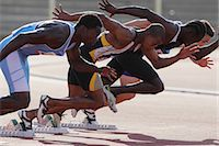 race track (people) - Runners Taking Off From Starting Point Stock Photo - Premium Royalty-Freenull, Code: 622-05602912
