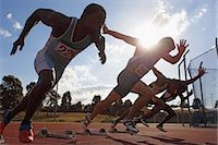 race track (people) - Runners Taking Off From Starting Point Stock Photo - Premium Royalty-Freenull, Code: 622-05602913