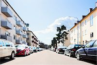stockholm - Suburban street Stock Photo - Premium Royalty-Freenull, Code: 6102-05603671