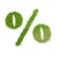 percentage symbol - Percentage symbol made of grass Stock Photo - Premium Royalty-Freenull, Code: 618-05605126
