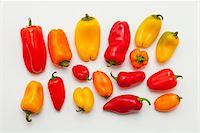 spicy - Sweet chilli peppers on white background Stock Photo - Premium Royalty-Freenull, Code: 618-05605447