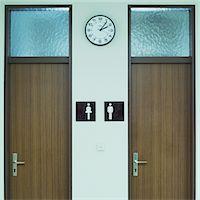 Men's and Women' s bathrooms Stock Photo - Premium Royalty-Freenull, Code: 6106-05606627