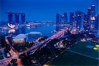 Suntec City and Marina Bay Sands, Marina Bay, Singapore Stock Photo - Premium Rights-Managednull, Code: 700-05609416