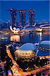 Marina Bay Sands Resort, Marina Bay, Singapore Stock Photo - Premium Rights-Managed, Artist: R. Ian Lloyd, Code: 700-05609419