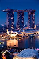 Marina Bay Sands Resort, Marina Bay, Singapore Stock Photo - Premium Rights-Managednull, Code: 700-05609420