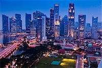 Financial District and Sklyine, Singapore Stock Photo - Premium Rights-Managednull, Code: 700-05609423