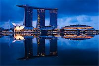 Marina Bay Sands Resort, Marina Bay, Singapore Stock Photo - Premium Rights-Managednull, Code: 700-05609430