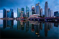 Shenton Way and Financial District, Central Region, Singapore Stock Photo - Premium Rights-Managednull, Code: 700-05609433