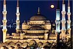Moon over Blue Mosque, Istanbul, Turkey Stock Photo - Premium Rights-Managed, Artist: R. Ian Lloyd, Code: 700-05609450