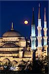 Moon over Blue Mosque, Istanbul, Turkey Stock Photo - Premium Rights-Managed, Artist: R. Ian Lloyd, Code: 700-05609451