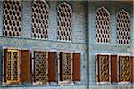Deatil of Windows in Imperial Harem, Topkapi Palace, Istanbul, Turkey