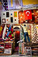 Carpet Seller, Grand Bazaar, Istanbul, Turkey Stock Photo - Premium Rights-Managednull, Code: 700-05609520