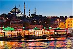 Boats in front of Suleymaniye and Yeni Camii Mosques, Eminonu District, Istanbul, Turkey Stock Photo - Premium Rights-Managed, Artist: R. Ian Lloyd, Code: 700-05609544