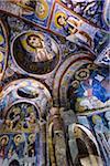 Ceiling of Dark Church, Goreme Open-Air Museum, Cappadocia, Turkey