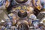 Ceiling of Dark Church, Goreme Open-Air Museum, Cappadocia, Turkey