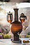Samovar on Counter, Rose Valley, Cappadocia, Turkey Stock Photo - Premium Rights-Managed, Artist: R. Ian Lloyd, Code: 700-05609768