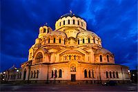 Alexander Nevsky Cathedral at Night, Sofia, Bulgaria Stock Photo - Premium Rights-Managednull, Code: 700-05609779