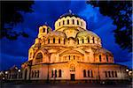 Alexander Nevsky Cathedral at Night, Sofia, Bulgaria Stock Photo - Premium Rights-Managed, Artist: R. Ian Lloyd, Code: 700-05609780