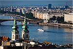 Bridge over Danube River, Budapest, Hungary